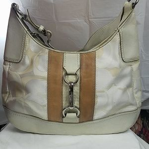 Coach Hampton Optic Signature Hobo Bag